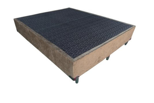 Base Box Ley Colchões Casal Queen Size – Rubi Art 158cm X 198cm X 42cm – Suede Chocolate